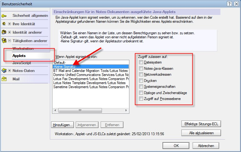 Image:Heise.de: Lotus Notes mit riesigem Java-Loch! - Ich verstehe die Aufregung nicht!