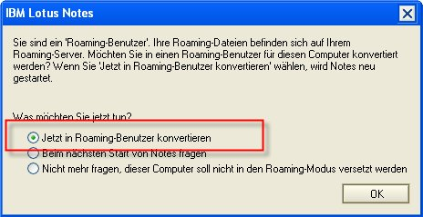 Image:Migration bestehender Lotus Notes Installationen auf Roaming Konzepte